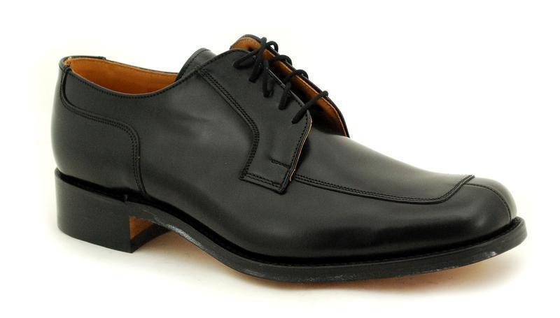 Loake Rahmengenähte Premium Herrenschuh 5 Eye schwarz Polished Schuhe B1303