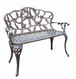 Remarkable Oakland Living Hummingbird Aluminum Garden Bench Andrewgaddart Wooden Chair Designs For Living Room Andrewgaddartcom
