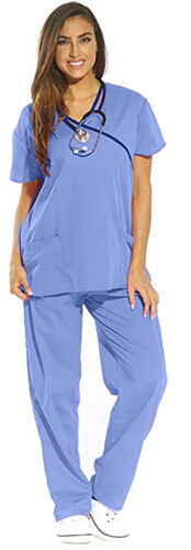 Just Love Women/'s Scrub Sets Medical Scrubs Mock Wrap