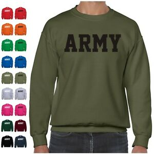 Image is loading US-ARMY-Military-Physical-Training-PT-Crewneck-Sweatshirt e109bd984c3