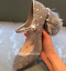 Womens-Rhinestones-Sequins-Beaded-Shoes-Pumps-Ankle-Strap-Chunky-High-Heel thumbnail 9