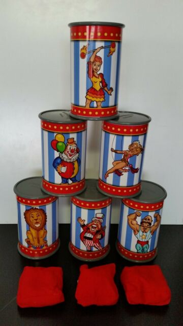 New Kids Carnival Can Bean Bag Toss Birthday Picnic Party Circus Gift