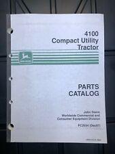 John Deere Parts Catalog Pc2654 Pc 2654 4100 Compact Utlity Tractor New