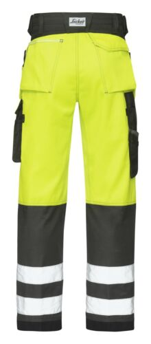 show original title Details about  /Snickers 3233 high visibility work trousers snickers directly Yellow