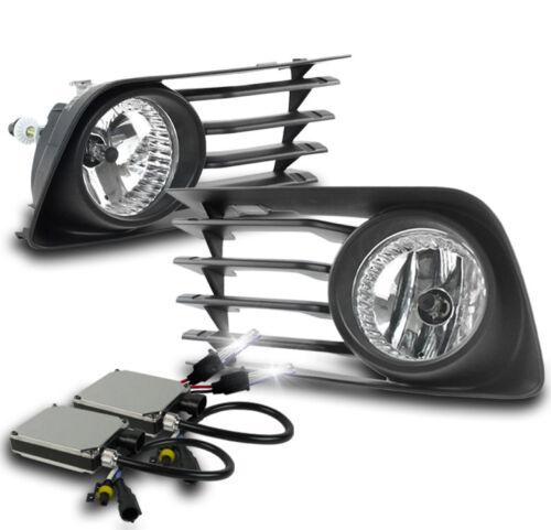 2004-2009 TOYOTA PRIUS BUMPER CLEAR FOG LIGHTS LAMPS CHROME W//8000K HID KIT PAIR