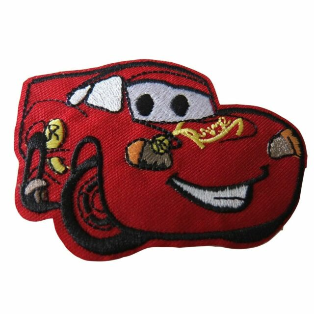 Cars Movie Lightning McQueen Character Embroidered Iron On