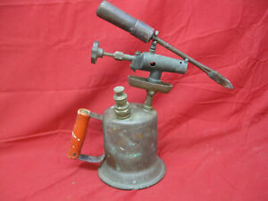 Antique-Vintage-Gasoline-Blow-Torch-with-Original-Soldering-Iron