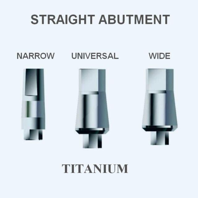 20x Dental STRAIGHT Titanium Abutment+Screw for Internal Hex implant System $140