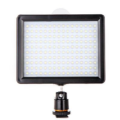 160 LED Video Light Lamp Panel 12W 1280LM Dimmable For Canon Nikon DSLR UK