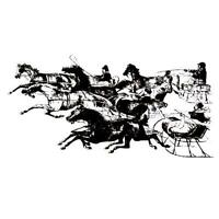 Trotters On The Snow Horse & Sleigh Winter Unmounted Christmas Rubber Stamp 13