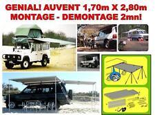 GENIAL UNIQUE AUVENT MONTAGE CLIC CLAC EN 2MN TAILLE 170 x 280! BATEAU 4X4 RAID