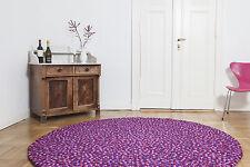 myfelt Viola 200 cm Design Teppich lila Wolle Filzkugelteppich Kinder-Teppich