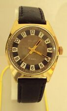 VINTAGE MEN'S POLJOT RARE WATCH GOLD PLATED RUSSIAN/USSR BEAUTIFUL DIAL # 55