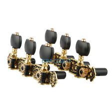 US 3R3L Classic Guitar Tuning Pegs Machine Heads Tuners Gold-Plated with Black