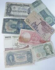 8x Circulated Miscellaneous Banknotes - Brazil-Norway-Italy-Turkey-Egypt etc