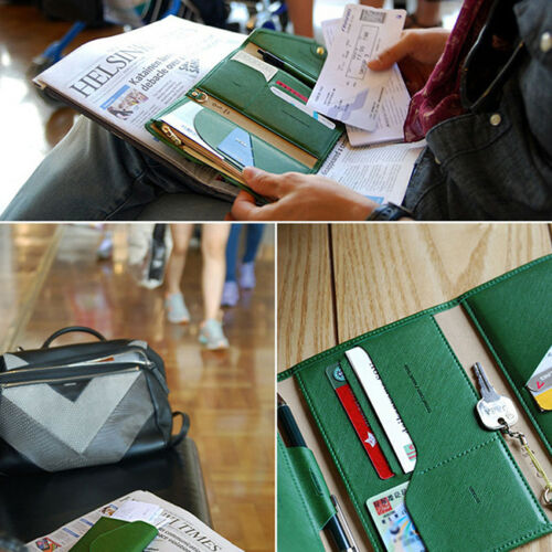 Family Travel Organiser Passport Document Holder RFID Cards Tickets Wallet YW