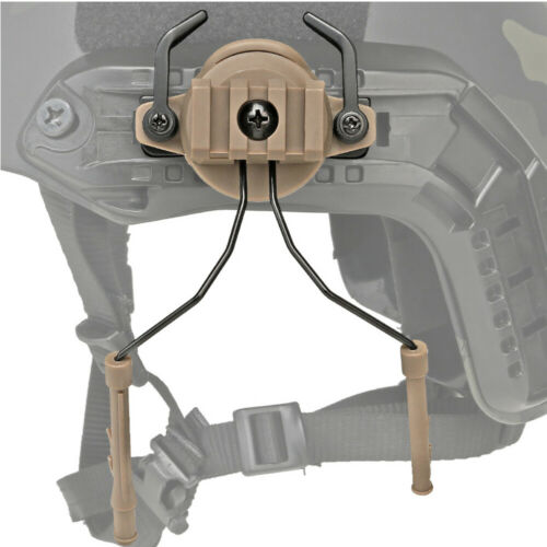 Rotary Tactical Helmet Rail Adapter Set Suspension Headset Support Holder