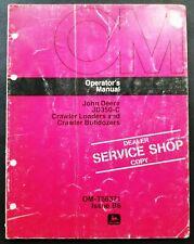 John Deere Model 350c Crawler Loaderbulldozers Operators Manual Om T56371