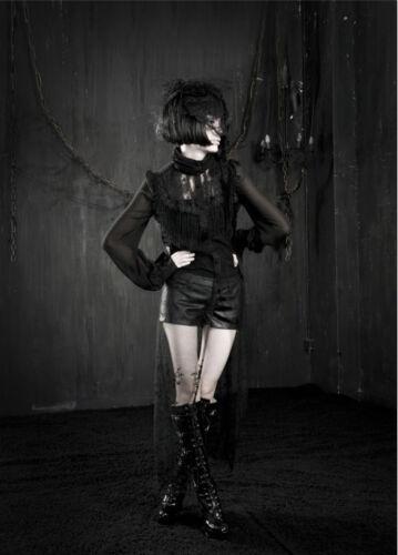 Chemise longue robe gothique lolita baroque dentelle pampille victorien PunkRave
