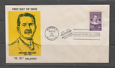 "Philippine Stamps 1972 Cayetano Arellano ""G.O."" Deleted on First Day Cover"