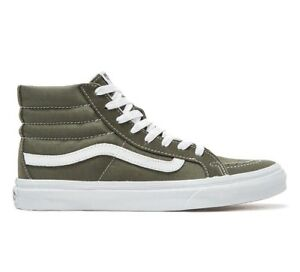 24cde41668 VANS Sk8 Hi Slim (Suede Canvas) Grape Leaf True White Skate Shoes ...