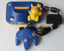 Nintendo 64 Pokemon Pikachu Console System w/ 1 OEM Controller TESTED Rare Kids