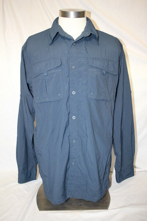 COLUMBIA Sportswear Company TITANIUM bluee Button Down Shirt Mens Size L-B133