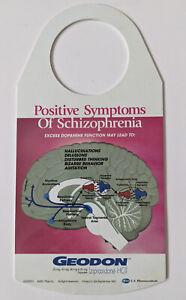 RARE 2001 Pfizar GEODON PharmaDesign Schizophrenia DOOR TAG Ziprasidone HCI Drug