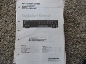 Details about HARMAN KARDON HK3350 INTERNATIONAL STEREO RECEIVER SERVICE on
