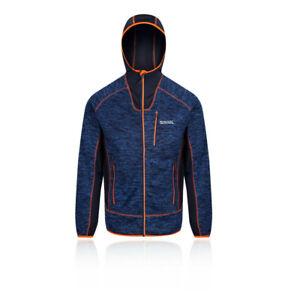 Regatta-Mens-Cartersville-V-Full-Zip-Hooded-Fleece-Jacket-Top-Navy-Blue-Sports
