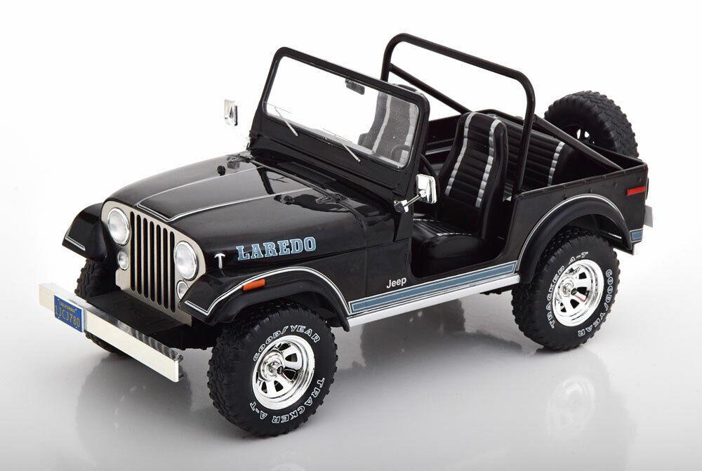 venta caliente Mcg 1976 1976 1976 Jeep CJ-7 Larojoo Negro 1 18 Escala Nuevo Lanzamiento   cómodo