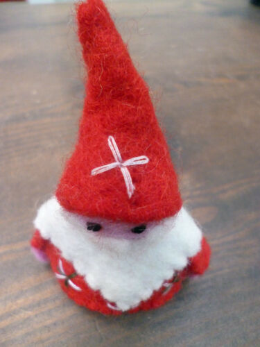 Hand Felted Father Christmas Fair Trade Ethical Felt Wool Santa Family Gift