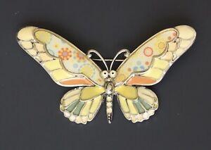 Unique-butterfly-brooch-pin-in-enamel-on-metal
