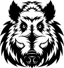 A wild boar vinyl cut sticker or decal. Great for car or laptop!!!