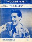 ELVIS PRESLEY - Wooden Heart - 1960's Original SHEET MUSIC Australia