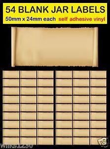 blank 54 old scrolls herb spice jar labels adhesive vinyl storage