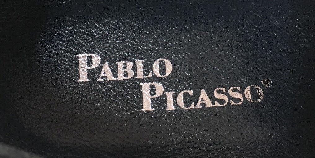 PABLO PICASSO HERREN BUSINESS SLIPPER LEDERSCHUHE ROTE LEDERSOHLE HANDARBEIT SLIPPER BUSINESS 41 60591f
