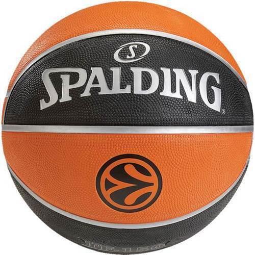Spalding Basketball Euro League Black Orange Size 7