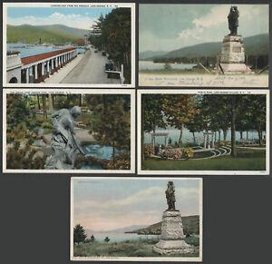 Lake-George-NY-Lot-of-Five-c-1906-1920s-Postcards-AROUND-LAKE-GEORGE-VILLAGE