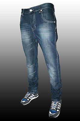 Pantaloni Jeans Uomo Double Check Cavallo Basso Modello Turca Taglia 42 44 46 48