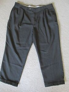 Men S Dockers Exact Pleated Cuffed Dress Pants Slacks Dark
