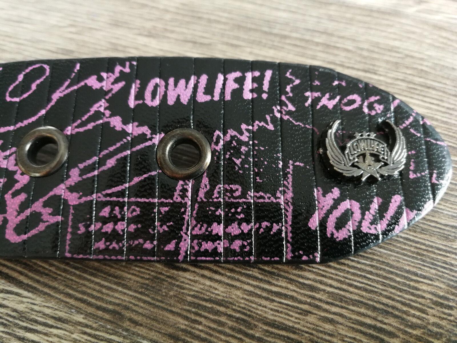 ~ LOWLIFE Gürtel ~ NEU - Belt Kunstledergürtel black fluoro Gr.S