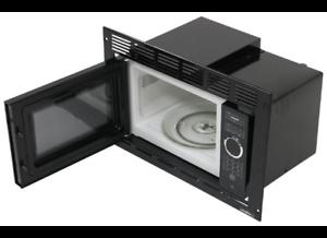 greystone black built in microwave with trim kit 0 9 cu ft rv motorhome