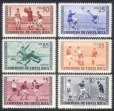 Costa Rica 1960 Football/Sports/Soccer/Pan-American Games 6v set (n37179)
