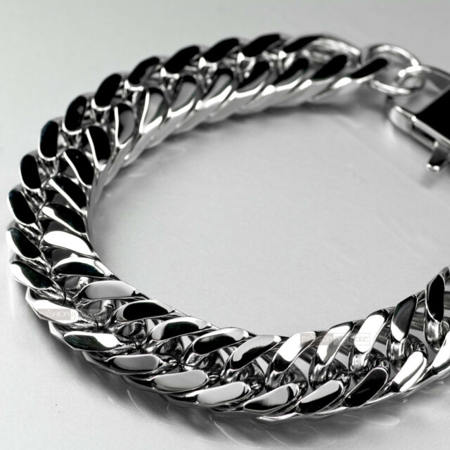 Stainless Steel Bracelet bikies chain thick heavy solid large 27cm long