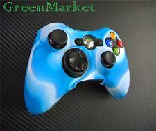 1x Brand new Xbox360 Controller Silicon Protective Cover- Blue White Mix