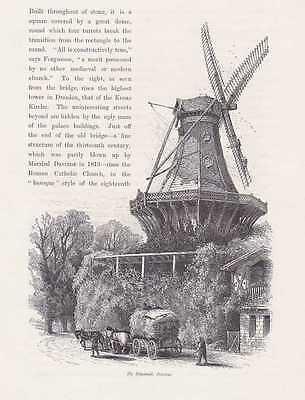 Potsdam Mühle Von Sanssouci Holzstich Um 1880 Windmühle