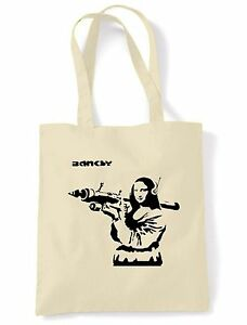 BANKSY BARCODE LEOPARD ECO TOTE \ SHOPPING \ SHOULDER BAG Choice of 6 Colours
