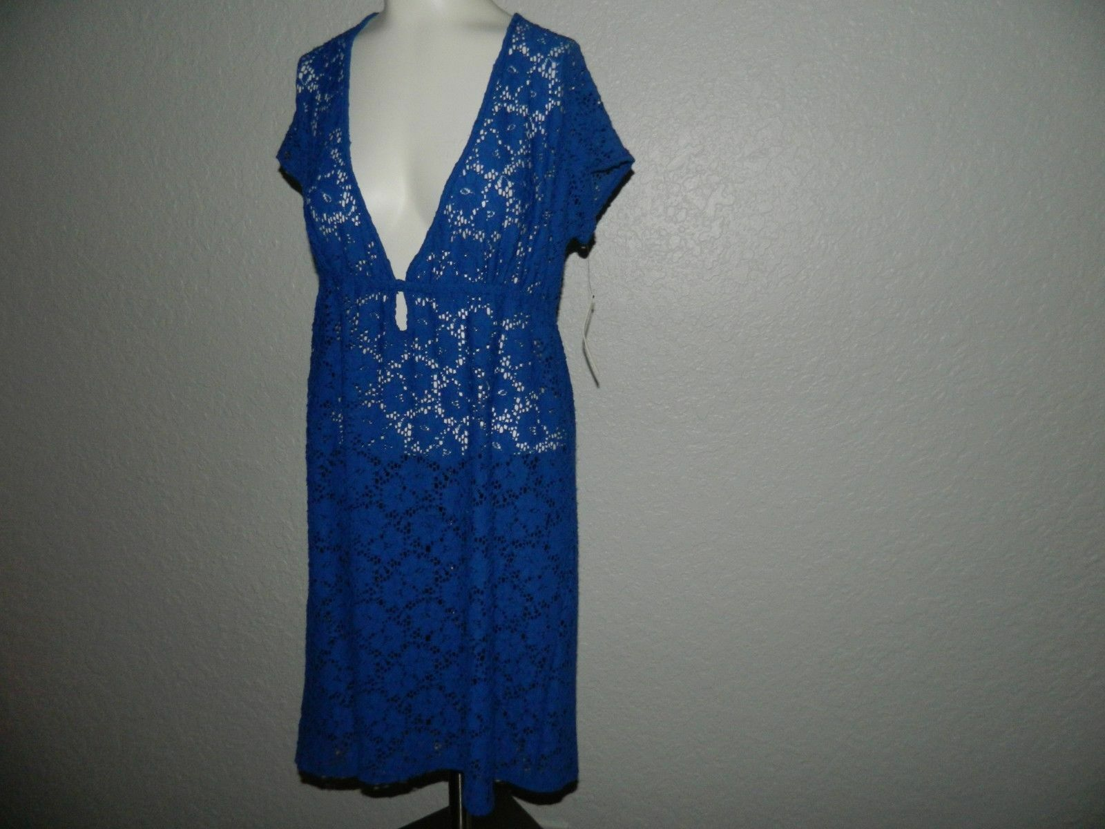 NWT    105 Laundry by Design Women Bright bluee Beach Cover Up sz M d6e939