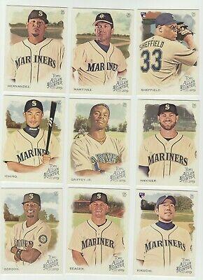 Seattle Mariners 2019 Topps Allen /& Ginter Base Team Set *9 cards* Griffey Jr